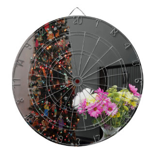 Colorful Flower Bouquet and Christmas Tree Dartboard