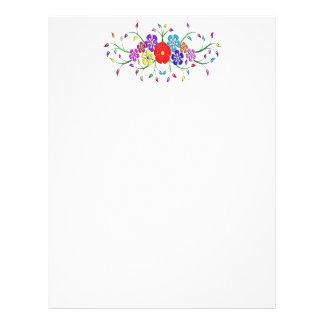 colorful flower bouquet letterhead