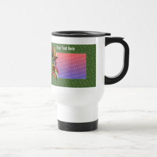 Colorful Flower Bouquet Photo Travel Mug