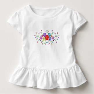 colorful flower bouquet toddler t-shirt