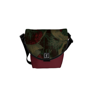 Colorful flower camouflage pattern courier bags