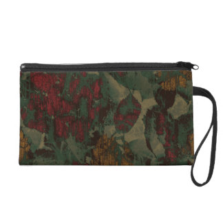 Colorful flower camouflage pattern wristlet
