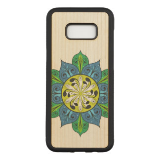 Colorful Flower Design Carved Samsung Galaxy S8+ Case