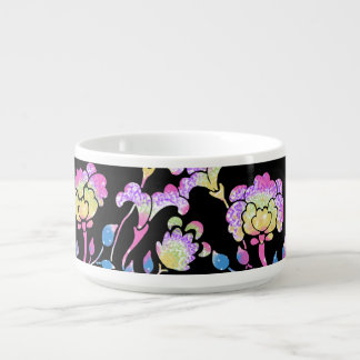 Colorful flower garden chili bowl