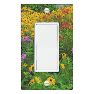 """COLORFUL FLOWER GARDEN"" LIGHT SWITCH PLATE"