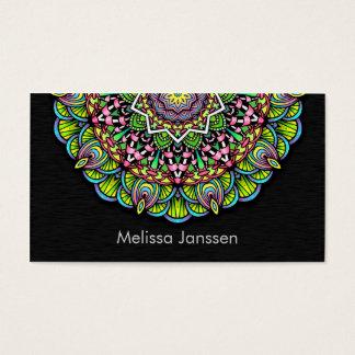 Colorful Flower -Mandala- Business Card