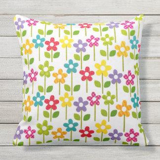 Colorful Flower Outdoor Garden Pillow