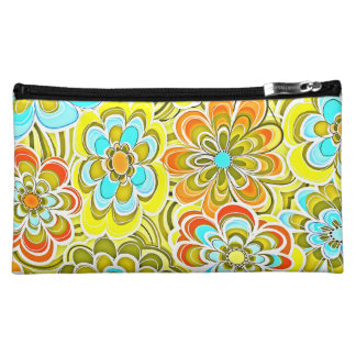 Colorful Flower Pattern Cosmetic Bags
