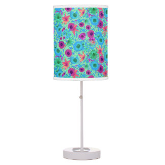 colorful flower pattern lamp table