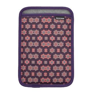 Colorful Flower Pattern on Dark Purple iPad Mini Sleeve