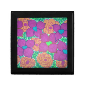 Colorful Flower Pattern Tropical Art Gift Box