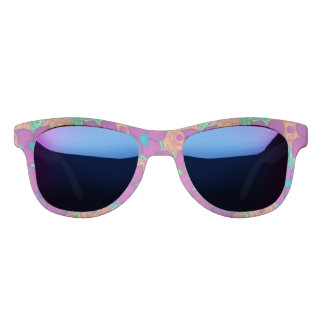 Colorful Flower Pattern Tropical Sunglasses