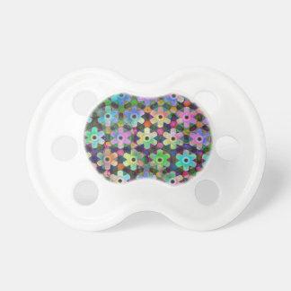 Colorful Flower Pinwheel Pattern Pacifier