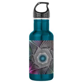Colorful Flower Power Abstract Modern Fractal Art 532 Ml Water Bottle