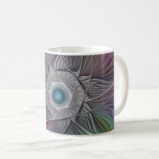 Colorful Flower Power Abstract Modern Fractal Art Coffee Mug