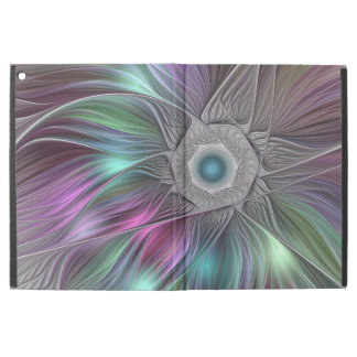 "Colorful Flower Power Abstract Modern Fractal Art iPad Pro 12.9"" Case"