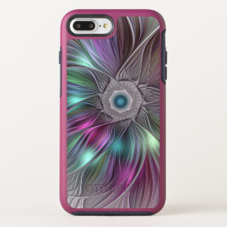 Colorful Flower Power Abstract Modern Fractal Art OtterBox Symmetry iPhone 8 Plus/7 Plus Case