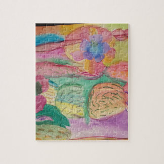 Colorful flower printed items, gifts , fashion. jigsaw puzzle