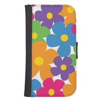 Colorful Flower Wallet Phone Case Phone Wallet Case