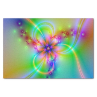Colorful Flower With Ribbons Tissue Paper
