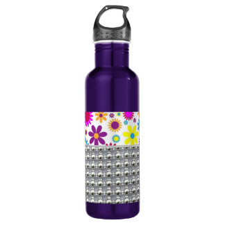 Colorful Flowers And Beads 710 Ml Water Bottle
