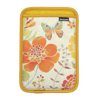 Colorful Flowers and Butterflies iPad Mini Sleeves