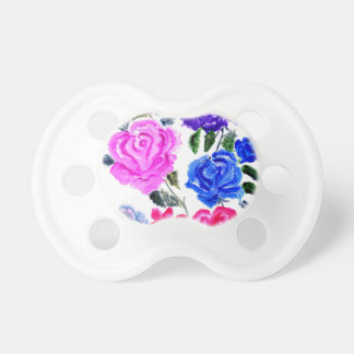 Colorful Flowers Art7 Pacifier