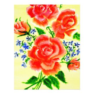 Colorful Flowers Art 2 Letterhead