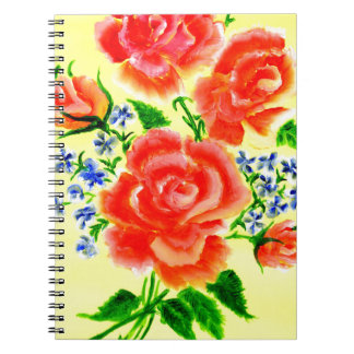Colorful Flowers Art 2 Notebooks