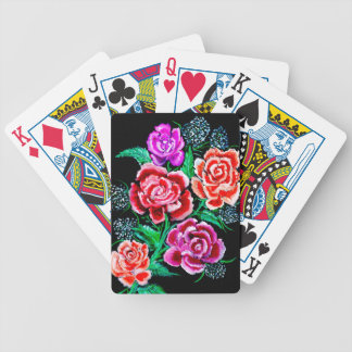 Colorful Flowers Art Bicycle Playing Cards