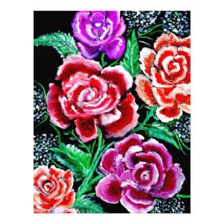 Colorful Flowers Art Letterhead