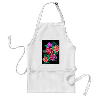 Colorful Flowers Art Standard Apron