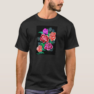 Colorful Flowers Art T-Shirt