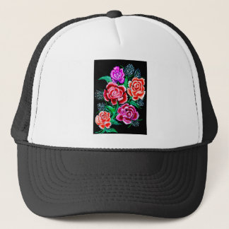 Colorful Flowers Art Trucker Hat