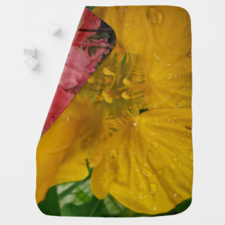 COLORFUL  FLOWERS baby blanket