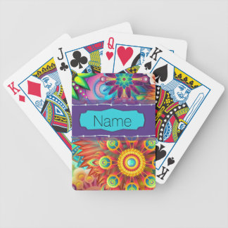 Colorful Flowers Bicycle Playing Cards