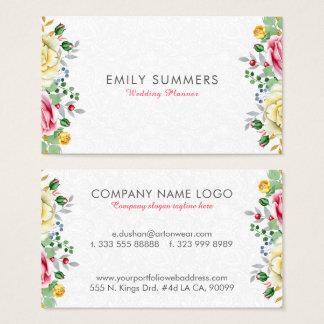 Colorful Flowers Bouquet Business Card