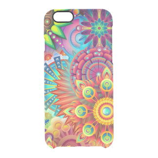Colorful Flowers Clear iPhone 6/6S Case