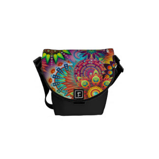Colorful Flowers Commuter Bags