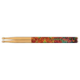 Colorful Flowers Drumsticks