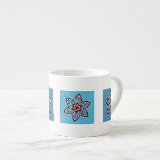 Colorful flowers espresso mug