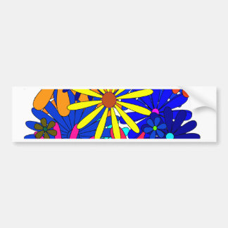 Colorful flowers floral gift Mother s Day Bumper Sticker