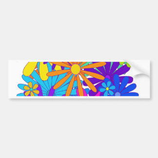 Colorful flowers floral gift Mother s Day Bumper Stickers