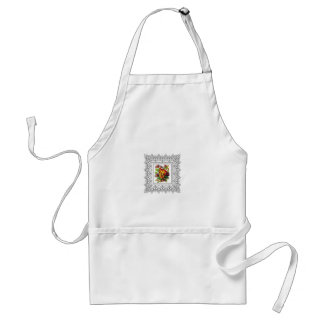 colorful flowers in cube standard apron