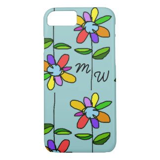 colorful flowers iPhone 7 case
