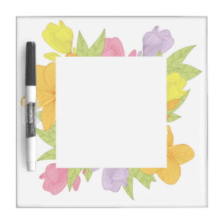 Colorful flowers - Kitchen dry erase boards