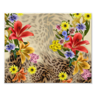 Colorful Flowers & Leopard Print