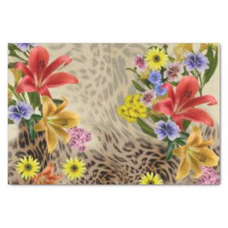 Colorful Flowers & Leopard Print Tissue Paper