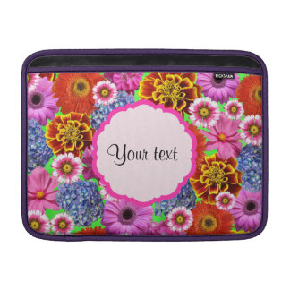 Colorful Flowers MacBook Sleeve