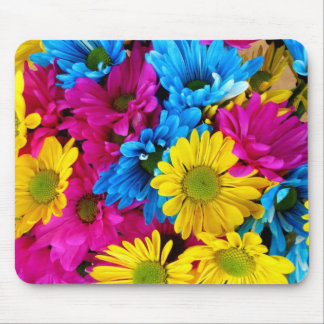 Colorful flowers motive mousepad
